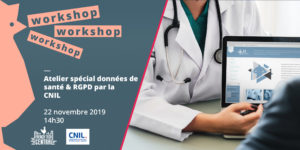 Special workshop on health data & GDPR by @CNIL